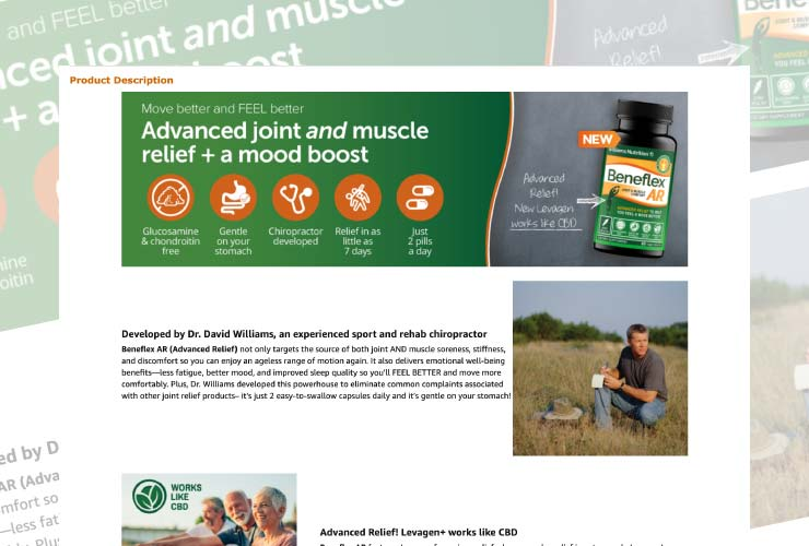 Healthy Directions family of brands Amazon Enhanced Brand Content