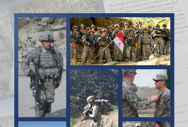 U.S. Army Medal of Honor Recipient Clinton Romesha Collage