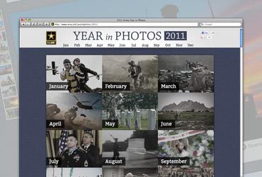 U.S. Army Year in Photos 2011 website
